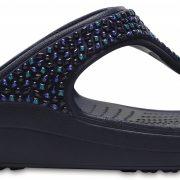 Crocs Flip Mujer Azul Navy / Turquoise Crocs Sloane Embellished