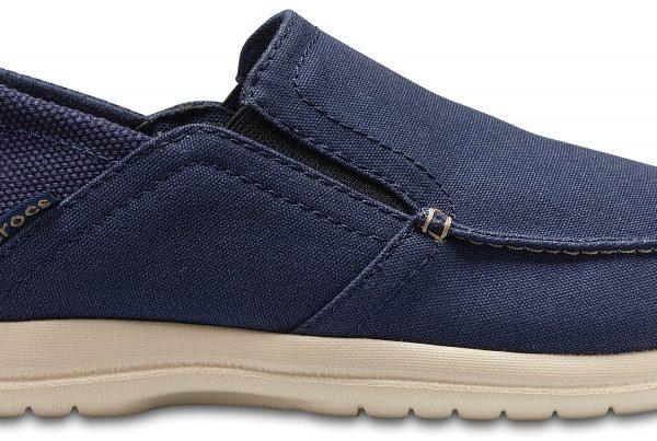 Crocs Shoe Hombre Azul Navy / Cobblestone Santa Cruz Convertible Slip-Ons