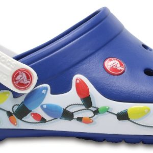 Crocs Clog Unisex Blue Jean/Blancos Crocband Holiday Lights