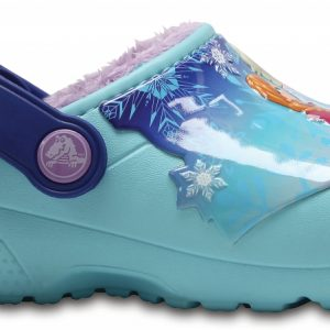 Crocs Clog para chica Ice Blue Crocs Fun Lab Fuzz Lined Frozen