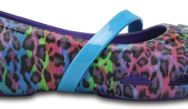 Crocs Flat para chica Ultraviolet Crocs Lina Graphic s