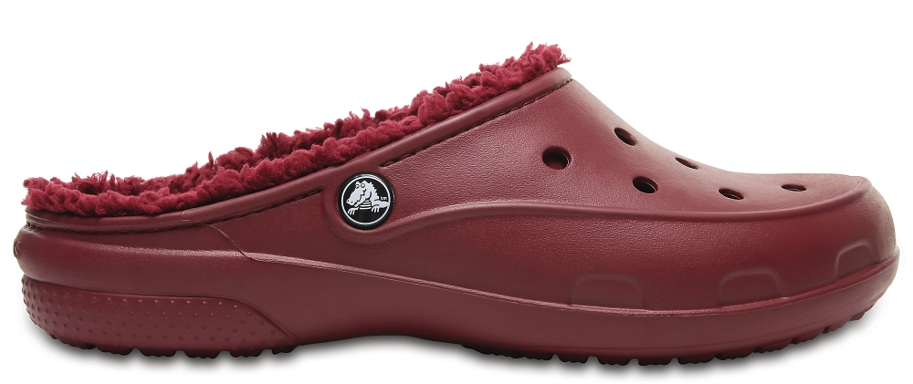 Crocs Clog Mujer Garnet Crocs Freesail Plush Fuzz Lined