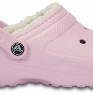 Crocs Clog Unisex Ballerina Rosa / Oatmeal Classic Fuzz Lined