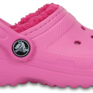 Crocs Clog Unisex Party Rosa / Candy Rosa Classic Fuzz Lined