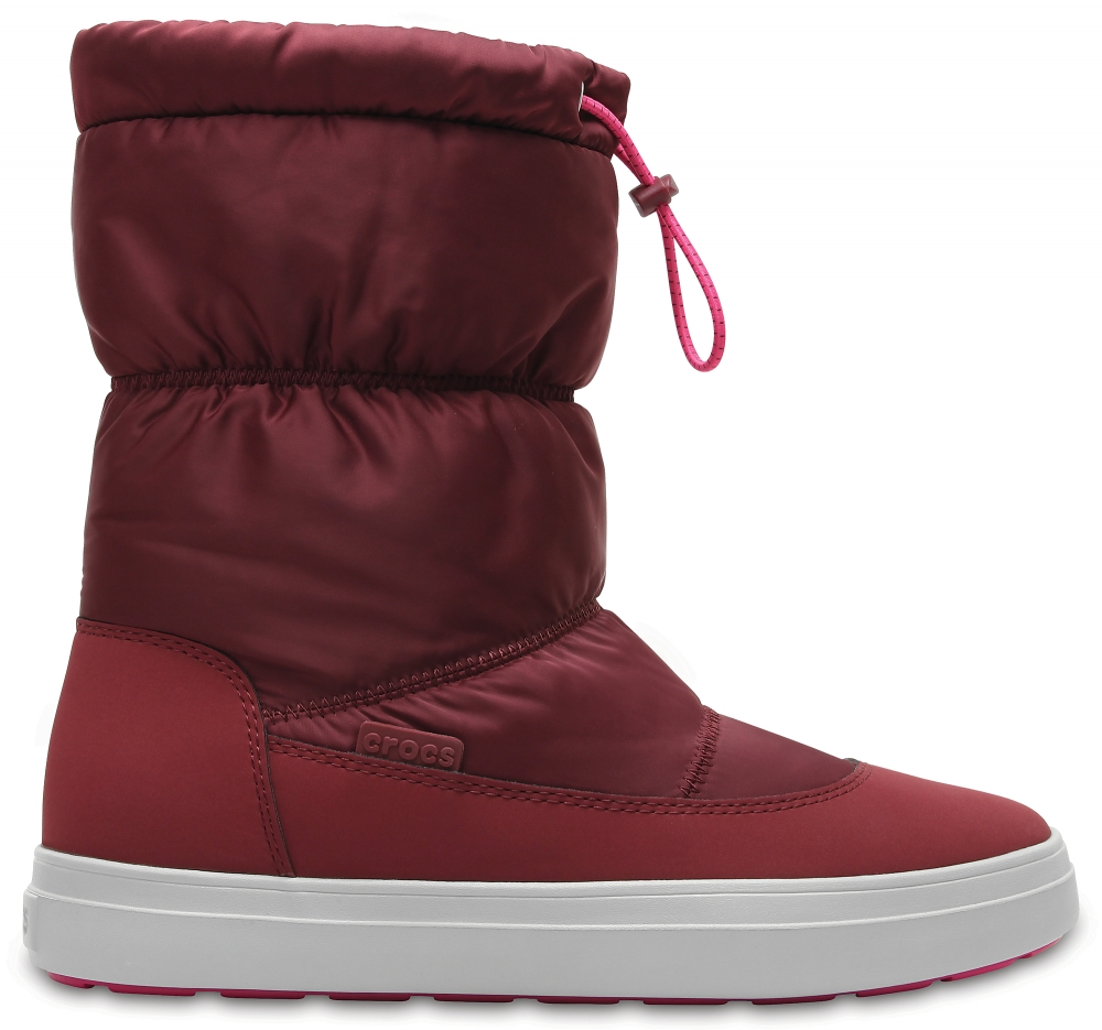 Crocs Boot Mujer Garnet/Candy Rosa LodgePoint Shiny Pull-on