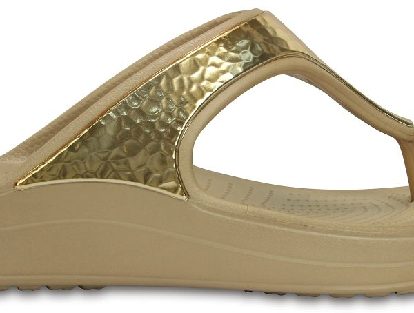 Crocs Flip Mujer Gold Metallic Crocs Sloane Embellished