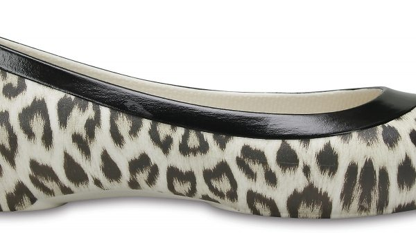 Crocs Flat Mujer Leopard / Oyster Crocs Lina Graphic