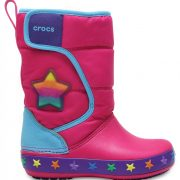 Crocs Boot para chica Multi Stars CrocsLights LodgePoint Star