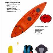 Kayak TOURING Pack Pesca iniciacion