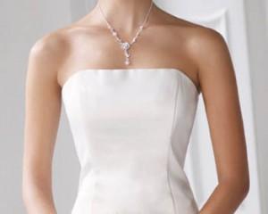 trajes novia escote