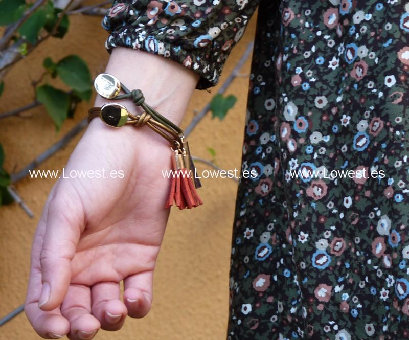 combinar pulseras vestidos