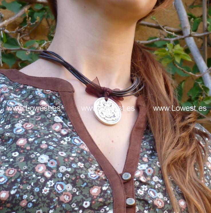 colgante de moda plata antigua