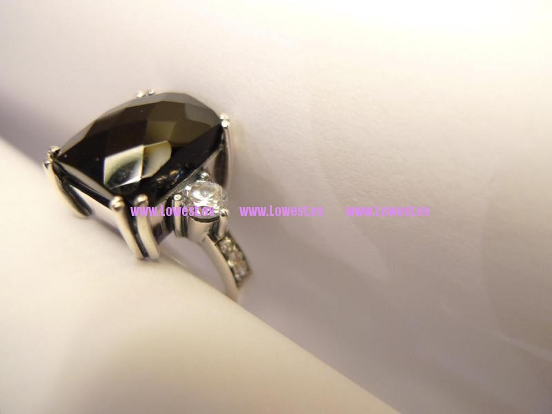 anillo de plata negro