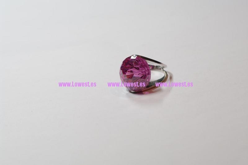 anillo de plata rosa