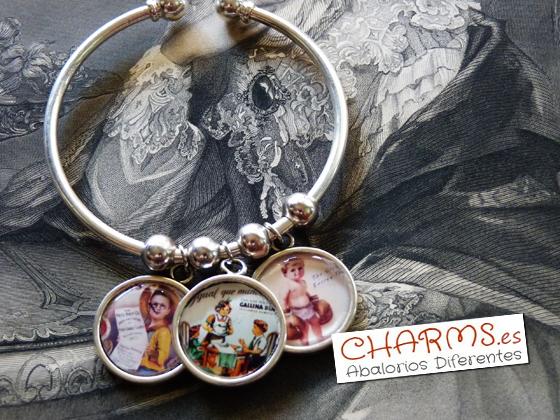 medallas para pulseras
