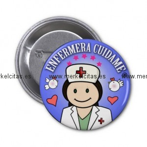 chapa enfermera cuidame morena anil chapa redonda 5 cm retrocharms 1