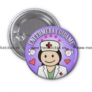 chapa enfermera cuidame morena lila chapa redonda 2 5 cm retrocharms 1