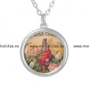 la rosa cubana diseno vintage cuba colgante redondo retrocharms 1