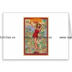 mujer havana vintage cubano la habana tarjeta de felicitacion retrocharms 1