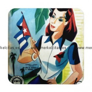 regalos vintage chica cuba bandera retrocharms posavaso retrocharms 1