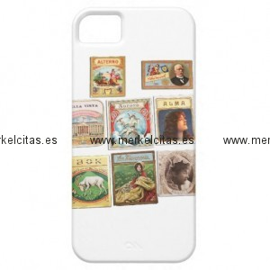 sellos cuba vintage etiquetas memorabilia iphone 5 case mate carcasa retrocharms 1