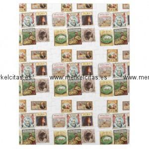 sellos cuba vintage etiquetas memorabilia rompecabeza con fotos retrocharms 1