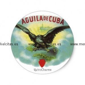 vintage cubano aguila de cuba pegatina redonda retrocharms 1