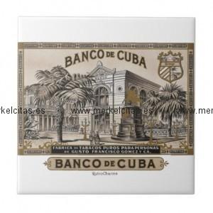 vintage cubano banco de cuba de cuba azulejo cuadrado pequeño retrocharms 1