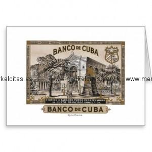 vintage cubano banco de cuba de cuba tarjeta de felicitacion retrocharms 1