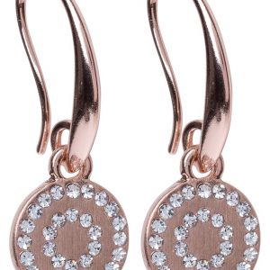 Pendientes SNO of Sweden SELMA  rose goldcoloured/clear