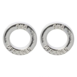 Pendientes SNO of Sweden HEGE plain silvercoloured