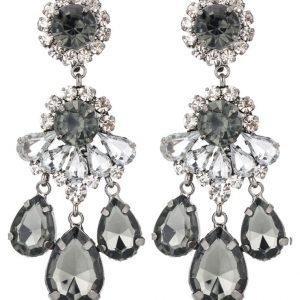 Pendientes sweet deluxe BURGAS gunmetal/black diamond/crystal