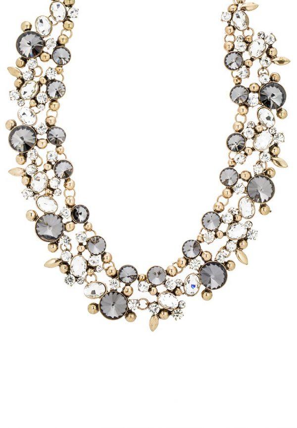 Collares sweet deluxe CORDOBA Collar antikgold/crystal/black diamond