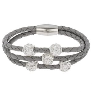Pulsera sweet deluxe TRICE Pulsera silver/crystal/light grey