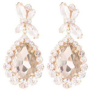 Pendientes sweet deluxe PRINCESS goldcoloured/topaz/crystal