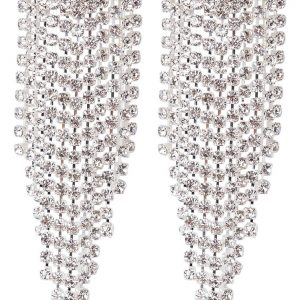 Pendientes sweet deluxe silvercoloured/crystal