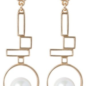 Pendientes sweet deluxe CORALI matt goldcoloured/pearl