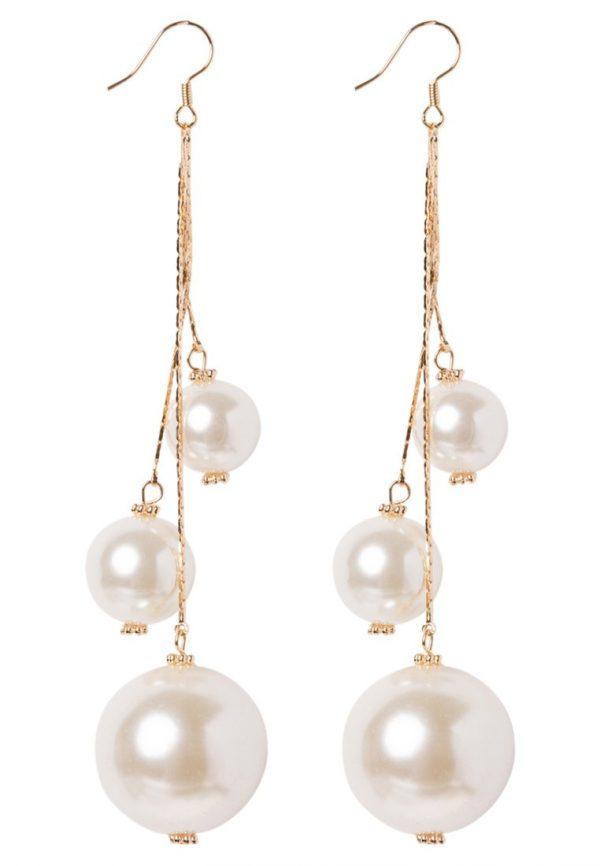 Pendientes sweet deluxe CELENTA goldcoloured/pearl