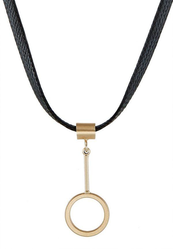 Collares sweet deluxe BLIA Collar schwarz/mattgoldfarbig