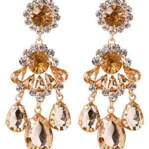Pendientes sweet deluxe BURGAS goldcoloured/crystal/topaz