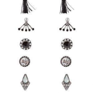 Pendientes ALDO OLIRAWEN 6 PACK black/silvercoloured