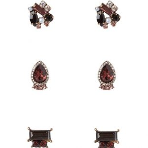 Pendientes ALDO TAUSSI 3 PACK burgundy/rose goldcoloured