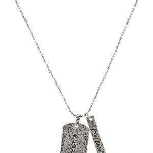Collares Icon Brand No I.D. Collar silver