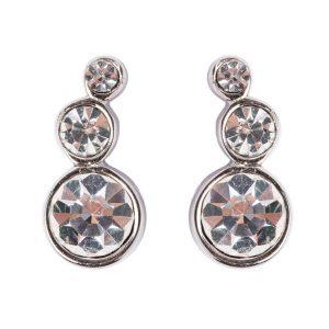 Pendientes Dyrberg/Kern LINI shiny silvercoloured