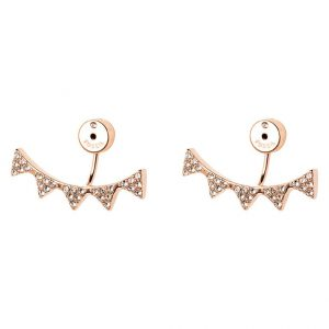 Pendientes Fossil rose goldcoloured