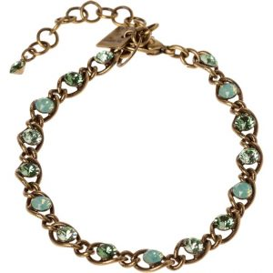 Pulsera Konplott MAGIC FIREBALL Pulsera green antique brass