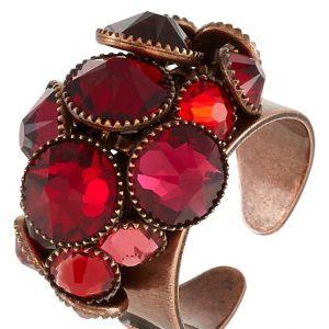 Anillo Konplott WATERFALLS Anillo red/dark rose