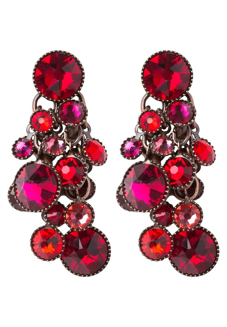 Pendientes Konplott WATERFALLS red/dark rose dark