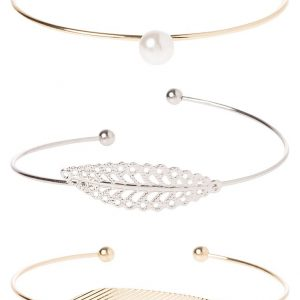 Pulsera Miss Selfridge 3 PACK Pulsera silvercoloured/goldcoloured