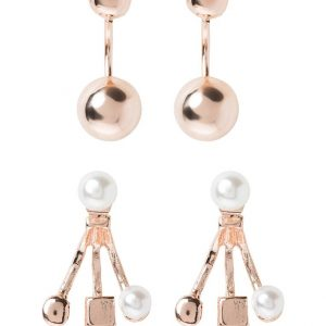 Pendientes Miss Selfridge 2 PACK cream